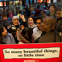 London December 26 Bargain hunters queue outside the main door at Selfridges on Oxford Steet. More than 50,000 people will pass through the doors at Selfridges and the store expect to take in excess of £1M per hour at peak time on the first day of this year Sales...***Agreed Fee's Apply To All Image Use***.Marco Secchi /Xianpix. tel +44 (0) 771 7298571. e-mail ms@msecchi.com .www.marcosecchi.com