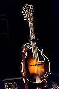 One of the mandolins that were to be used in the David Bromberg Quintet show at The Landis Theater in Vineland, NJ.