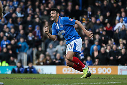 Goal, Gary Roberts of Portsmouth scores, Portsmouth 1-0 Bournemouth - Mandatory byline: Jason Brown/JMP - 07966386802 - 30/01/2016 - FOOTBALL - Fratton Park - Portsmouth, England - Portsmouth v AFC Bournemouth - The Emirates FA Cup