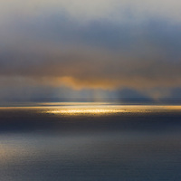 Sunbeam Mystical Light after Storm Seascape Horizon, Co. Kerry, Ireland / wt031