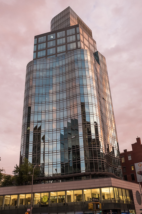 Astor Place Tower, designned by architect Charles Gwathmey, completed in 2005.