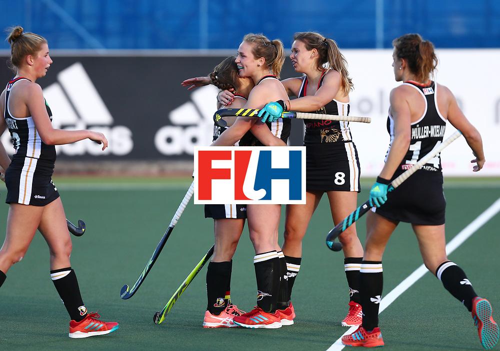 New Zealand, Auckland - 19/11/17  <br /> Sentinel Homes Women&rsquo;s Hockey World League Final<br /> Harbour Hockey Stadium<br /> Copyrigth: Worldsportpics, Rodrigo Jaramillo<br /> Match ID: 10297 - GER vs CHI<br /> Photo: (4) LORENZ Nike, (14) M&Uuml;LLER-WIELAND Janne (C), (8) SCHR&Ouml;DER Anne&nbsp;(C) celebraiting
