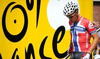 CYCLING - TOUR DE FRANCE 2010 - ARENBERG (FRA) - 06/07/2010 - PHOTO : VINCENT CURUTCHET / DPPI - <br /> STAGE 3 - WANZE (BEL) > ARENBERG PORTE DU HAINAUT - THOR HUSHOVD (NOR) / CERVELO TEST TEAM / WINNER