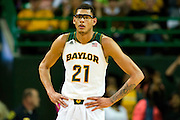 WACO, TX - JANUARY 25: Isaiah Austin #21 of the Baylor Bears looks on against the Texas Longhorns on January 25, 2014 at the Ferrell Center in Waco, Texas.  (Photo by Cooper Neill/Getty Images) *** Local Caption *** Isaiah Austin