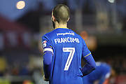 AFC Wimbledon defender George Francomb (7) wearing captains armband during the EFL Sky Bet League 1 match between AFC Wimbledon and Southend United at the Cherry Red Records Stadium, Kingston, England on 1 January 2018. Photo by Matthew Redman.