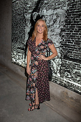 Sarah Jane Mee at 'Shadowman' Richard Hambleton Private View and After Party hosted by Andy Valmorbida and Maddox Gallery, held at 26 Leake Street Tunnels, London SE1 England. 12 September 2018.