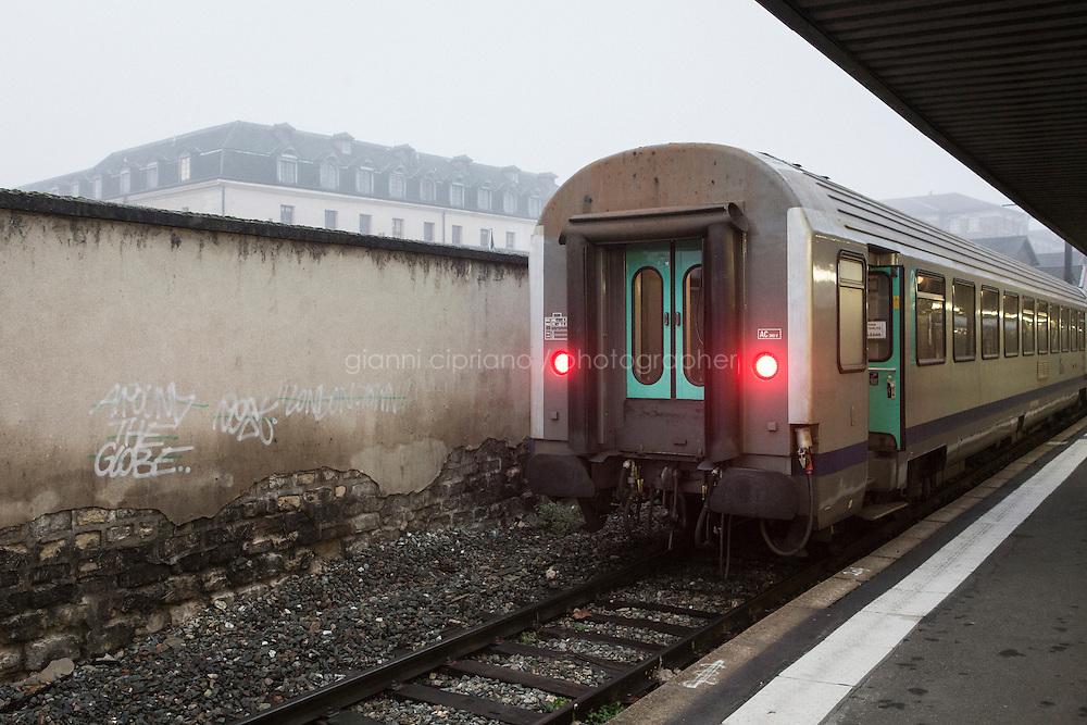 PARIS, FRANCE - 19 NOVEMBER 2014: Gare d'Austerlitz in Paris, France, on November 19th 2014.