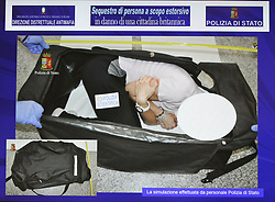 Italy, Milan - August 5, 2017.Police operation against human trafficker.Lukasz Pawel Herba arrested after kidnapping a young British woman he planned to auction on an online slavery market..Police press conference in Milan (Credit Image: © Cattaneo/Fotogramma/Ropi via ZUMA Press)