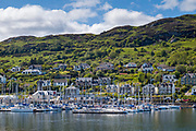 Sailing boats - yachts and pleasure craft, moored at Tarbert Marina in the Port, Argyll and Bute, Scotland