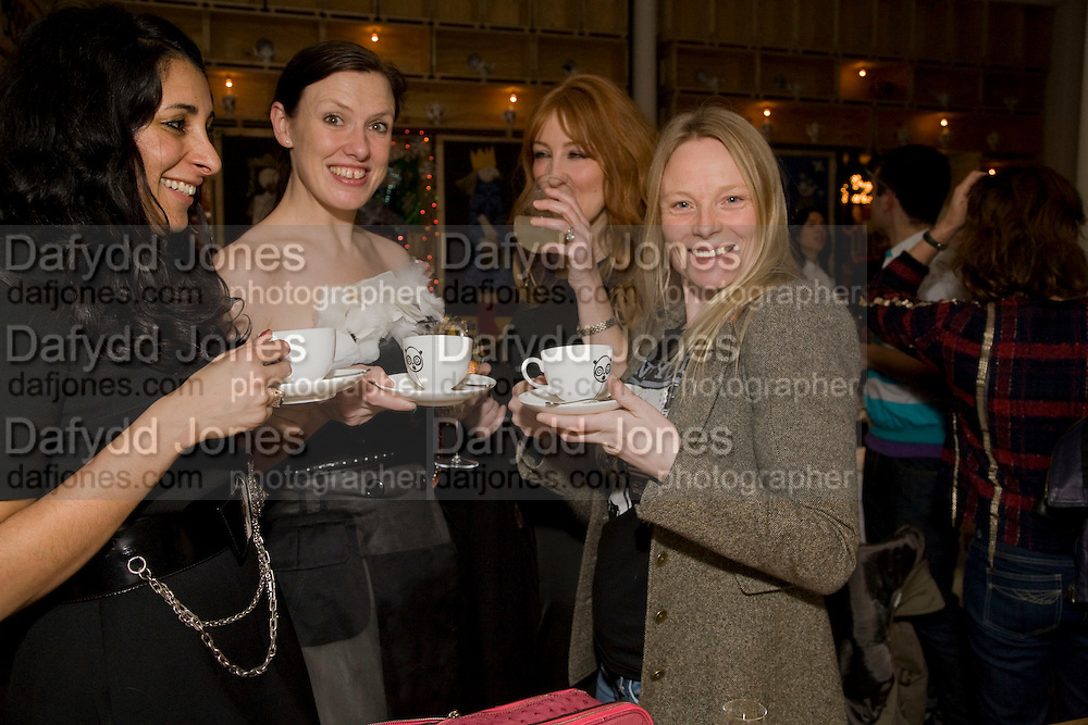 SERENA REES; KATIE GRAND; CHARLOTTE TILBURY;  LUELLA BARTLEY, Kate Grand hosts a Love Tea and Treasure hunt at Flash. Royal Academy. Burlington Gardens. London. 10 december 2008 *** Local Caption *** -DO NOT ARCHIVE-© ightrPhotoPhotograph by Dafydd Jones. 248 Clapham Rd. London SW9 0PZ. Tel 0207 820 0771. www.dafjones.com.<br />