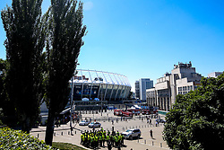 A general view of The Olympic Stadium in Kiev ahead of the Champions League Final between Liverpool and Real Madrid - Mandatory by-line: Robbie Stephenson/JMP - 26/05/2018 - FOOTBALL - Olympic Stadium - Kiev,  - Real Madrid v Liverpool - UEFA Champions League Final