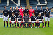 Aug 1st 2017, Dens Park, Dundee, Scotland; Dundee team shoot; Dundee FC under 20s development squad for 2017-18; <br /> <br /> Back row left to right - Callum Moore, Sam Dryden, Conor Quigley, Kyle Gourlay, Taylor Berry, Callum Ferrie, Matty Henvey,  Jordan Piggott, Cameron Mooney, <br /> <br /> Front row left to right - Jack Lambert, Brian Rice, Jimmy Boyle coach), Connor Coupe, Max Anderson