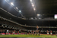 A general view of a line out. Dove Men autumn international series, Wales v New Zealand at the Millennium stadium in Cardiff , South Wales on Saturday 24th November 2012. pic by Andrew Orchard, Andrew Orchard sports photography,