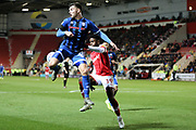 Rochdale's Aaron Morley (28) during the EFL Sky Bet League 1 match between Rotherham United and Rochdale at the AESSEAL New York Stadium, Rotherham, England on 7 December 2019.