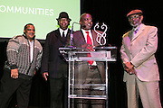 Original members of the Dirty Dozen Brass Band receive their award at the Arts Council New Orleans Community Arts Awards Celebration at the Civic Theatre December 2, 2015