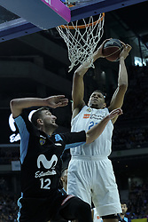 April 29, 2018 - Madrid, Madrid, Spain - SAMUEL TAVARE  of Real Madrid in action during a Liga Endesa Basketball game between Estudiantes and Real Madrid, at the Palacio de los Deportes, in Madrid, Spain, 29 April 2018. (Credit Image: © Oscar Gonzalez/NurPhoto via ZUMA Press)