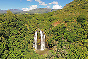 Opaekaa Falls, Wailua, Kauai, Hawaii, waterfall
