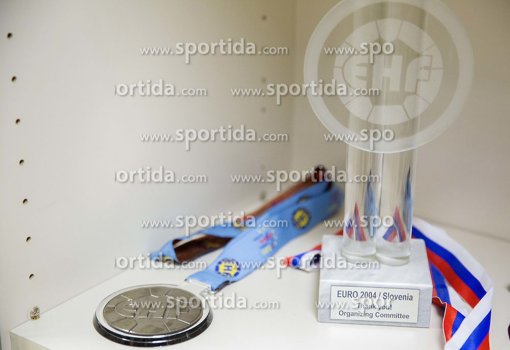 Medal at meeting of Silver medallists of EHF Euro Championship 2004 when they mark their 10th anniversary on February 6, 2014 in RZS, Ljubljana, Slovenia. Photo by Vid Ponikvar / Sportida