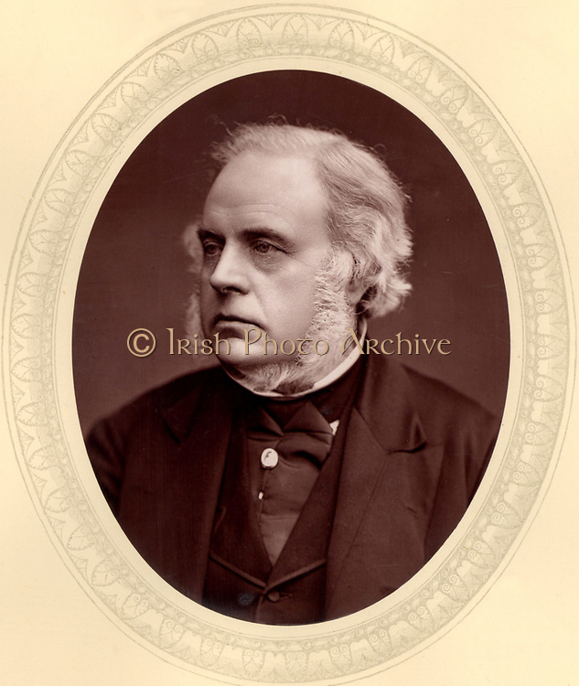 John Bright (1811-1889) British radical orator and statesman, born in Rochdale, Lancashire of Quaker parents.  First elected as a Member of Parliament in 1843.  Supported the Anti-Corn Law League, and the Reform Act of 1867.   From 'Men of Mark'  by Thompson Cooper (London, 1875). Woodburytype after photograph by Lock & Whitfield (active 1860s-1880s), English photographers.