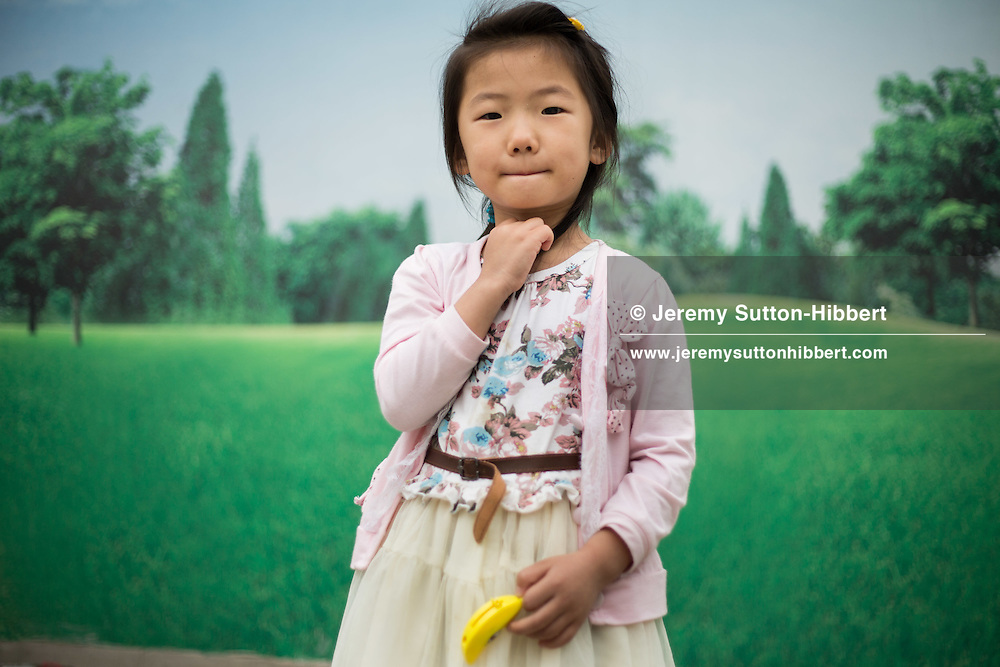 5yr old Zhang Yani, outside the Capital Museum, in Beijing, China, Friday 1st June 2012.