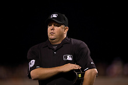 SAN FRANCISCO, CA - JULY 11:  MLB umpire Todd Tichenor #13 stands on the field during the sixth inning between the San Francisco Giants and the Philadelphia Phillies at AT&T Park on July 11, 2015 in San Francisco, California.  The San Francisco Giants defeated the Philadelphia Phillies 8-5. (Photo by Jason O. Watson/Getty Images) *** Local Caption *** Todd Tichenor