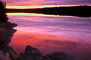 Dusk on Graphic Lake<br /> Near Kenora<br /> Ontario<br /> Canada
