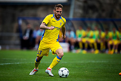 Zan Majer of NK Domzale during football match between NK Domzale and FC Lusitanos Andorra in second leg of UEFA Europa league qualifications on July 7, 2016 in Andorra la Vella, Andorra. Photo by Ziga Zupan / Sportida