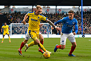 Tom King (1) of AFC Wimbledon on the attack during the EFL Sky Bet League 1 match between Portsmouth and AFC Wimbledon at Fratton Park, Portsmouth, England on 1 January 2019.