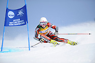 9 MAR 2011: Anne Cecilie Brusletto of the University of New Mexico on her way to 8th place in the women's giant slalom alpine race during the 2011 NCAA Men and Women's Division I Skiing Championship held Stowe Mountain Resort and Trapp Family Lodge in Stowe, VT. ©Brett Wilhelm/NCAA Photos