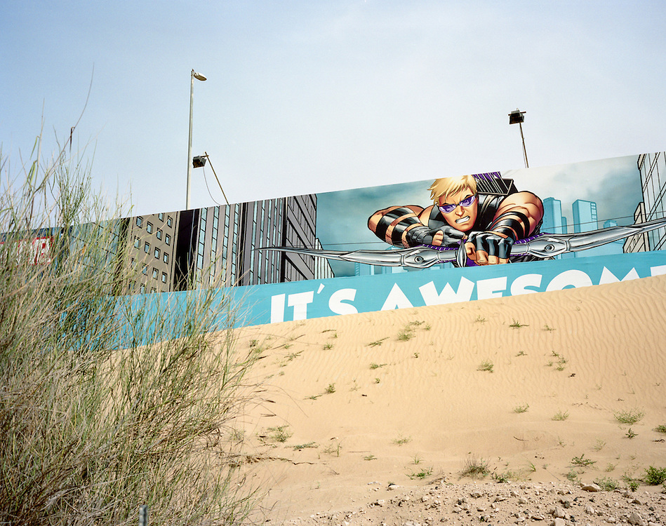 APRIL 2016: Billboards at IMG Worlds of Adventure, Dubailand, the world's largest indoor theme park.