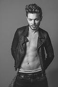 Test shoot with male model Michael Golden by Dublin based photographer Dan Butler.