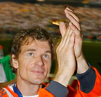 Photo: Glyn Thomas.<br />Germany v Portugal. Third Place Playoff, FIFA World Cup 2006. 08/07/2006.<br /> Germany's Jens Lehmann applauds the fans.