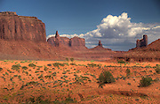 Monument Valley, The Navajo Indian Nations Scenic back country. A beautiful pristine area of buttes and Arches. Backdrop for many western movies.