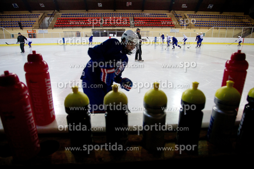 Athletes during Practice session of Slovenian U20 ice-hockey team, on December 08, 2011 in Ledena dvorana, Bled, Slovenia. (Photo By Vid Ponikvar / Sportida.com)