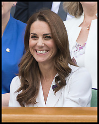 July 2, 2019 - London, London, United Kingdom - Image licensed to i-Images Picture Agency. 02/07/2019. London, United Kingdom. The Duchess of Cambridge in the Royal Box on the second day of the Wimbledon Tennis Championships in London. (Credit Image: © Stephen Lock/i-Images via ZUMA Press)