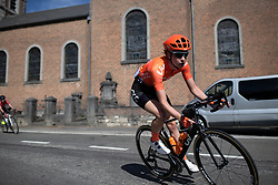 Riejanne Markus (NED) of CCC-Liv Team leans into a corner during the Fleche Wallonne Femme - a 118.5 km road race, starting and finishing in Huy on April 24, 2019, in Liege, Belgium. (Photo by Balint Hamvas/Velofocus.com)
