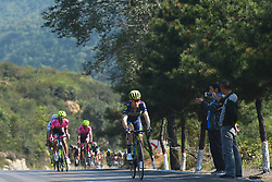 September 12, 2017 - Yunzhu, China - Riders during the second stage Jinzhong A to B race of the 2017 Tour of China 1, the 197km from Dazhai to Yunzhu. .On Tuesday, 12 September 2017, in Yunzhu, Xiyang County, Shanxi Province, China. (Credit Image: © Artur Widak/NurPhoto via ZUMA Press)