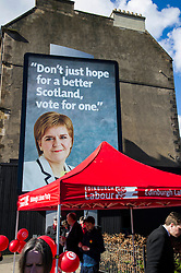 Pictured: Not the poster launched by Scottish Labour.<br /> <br /> Scottish Labour leader Kezia Dugdale today launched a new billboard poster for the final weekend of campaigning before the Scottish Parliament election on Thursday 5 May. She was joined by supporters and fellow candidates such as Sarah Boyack; Lesley Hinds and Daniel Johnston<br /> <br /> Ger Harley | EEm 30 April 2016
