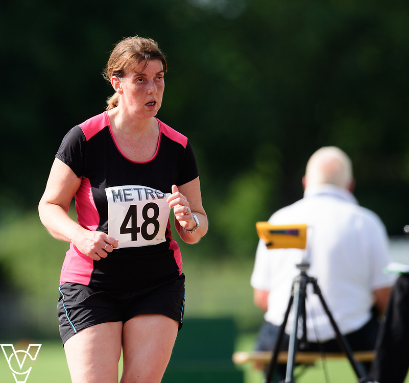 Metro Blind Sport's 2017 Athletics Open held at Mile End Stadium.  5000m.  Deborah Reynolds<br /> <br /> Picture: Chris Vaughan Photography for Metro Blind Sport<br /> Date: June 17, 2017
