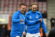 Wayne Rooney (10) of Everton warming up before the Premier League match between Bournemouth and Everton at the Vitality Stadium, Bournemouth, England on 30 December 2017. Photo by Graham Hunt.
