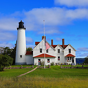 &quot;Path to Point Iroquois&quot;<br /> <br /> Point Iroquois Light Station on Lake Superior!<br /> <br /> Lighthouses of the Great Lakes by Rachel Cohen