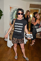 SUE WEBSTER at a party hosted by Nancy Dell'Olio to celebrate the launch of Limonbello held at The Club at The Ivy, 9 West Street, London on 20th July 2016.