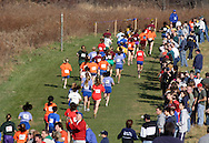 Warwick, N.Y. - Spectators line the course during a girls' race at the New York State Public High School Athletic Association cross country championships at Sanfordville Elementary School on Nov. 11, 2006.<br />