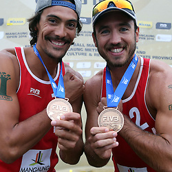 3rd place (L) /Youssef Krou of France  (R) Edouard Rowlandson of France