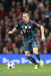 01.04.2014, Old Trafford, Manchester, ENG, UEFA CL, Manchester United vs FC Bayern Muenchen, Viertelfinale, Hinspiel, im Bild Franck Ribery #7 (FC Bayern Muenchen) // during the UEFA Champions League Round of 8, 1nd Leg match between Manchester United and FC Bayern Muenchen at the Old Trafford in Manchester, Great Britain on 2014/04/02. EXPA Pictures © 2014, PhotoCredit: EXPA/ Eibner-Pressefoto/ Kolbert<br /> <br /> *****ATTENTION - OUT of GER*****