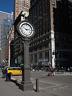 Street clock on Fifth Avenue Between 43rd and 44th street, looking north.