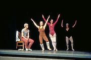 Rudolf Nureyev practicing 'Swan Lake' with Ballerinas