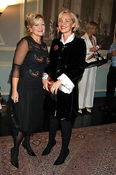 Left to right, KAY SAATCHI and AMANDA ELIASCH at a party hosted by Tatler magazine to celebrate the publication of Lunar park by Bret Easton Ellis held at Home House, 20 Portman Square, London W1 on 5th October 2005.<br /><br />NON EXCLUSIVE - WORLD RIGHTS