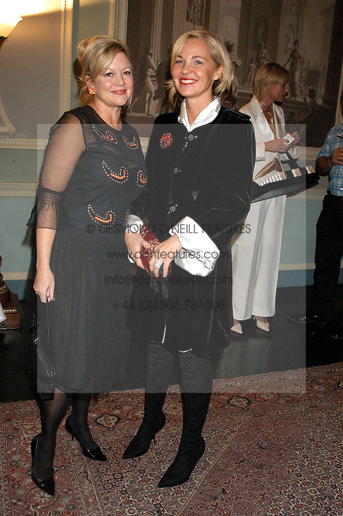 Left to right, KAY SAATCHI and AMANDA ELIASCH at a party hosted by Tatler magazine to celebrate the publication of Lunar park by Bret Easton Ellis held at Home House, 20 Portman Square, London W1 on 5th October 2005.<br />