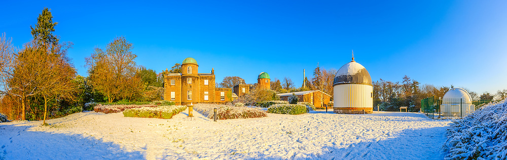 Armagh Observatory in the snow.<br />